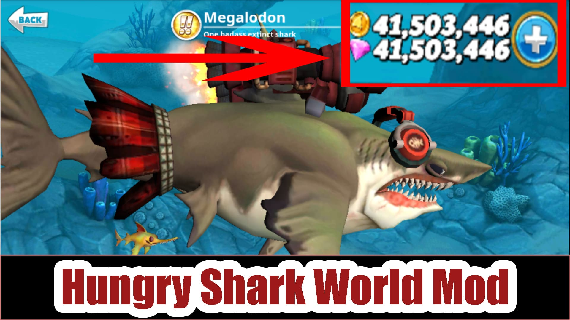 hungry shark world mod apk ios download